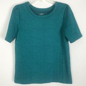 Ann Taylor Loft Top Green Womens Medium